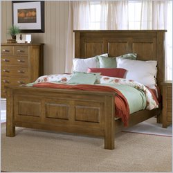 Hillsdale Outback Panel Bed in Distressed Chestnut - Queen
