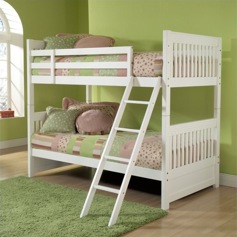 Lauren Twin over Twin Bunk Bed in White