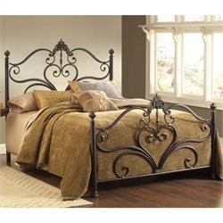Hillsdale Newton Bed in Antique Brown Highlight - King