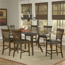 Hillsdale Arbor Hill 7 Piece Counter Height Dining Set in Chestnut