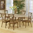 Hillsdale Brookside 7 Piece Dining Set with Oval Back Chairs
