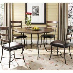 Hillsdale Cameron 5 Piece Wood Top Dining Set w/ Ladder Back Chairs