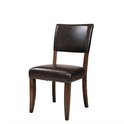 Hillsdale Cameron Parson Dining Chair in Chestnut Brown (set of 2)