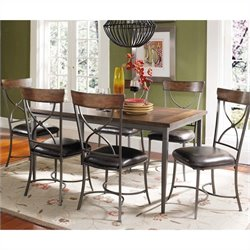 Hillsdale Cameron 7 Piece Rectangular Dining Set with X Back Chairs