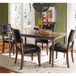 Hillsdale Cameron 5 Piece Rectangular Dining Set with Parson Chairs