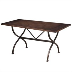 Hillsdale Cameron Rectangle Counter Height Dining Table in Brown