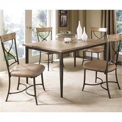 Hillsdale Charleston 5 Piece Rectangular Dining Set with X Back Chairs