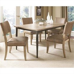 Hillsdale Charleston 5 Piece Rectangular Dining Set with Parson Chairs