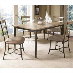 Hillsdale Charleston 5 Piece Rectangle Wood Dining Set w/ Ladder Chairs