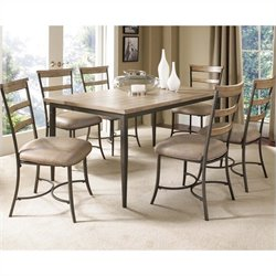 Hillsdale Charleston 7 Pc Rectangular Wood Dining Set with Ladder Chairs