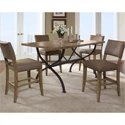Hillsdale Charleston 5 Piece Counter Height Dining Set w/ Parson Stools