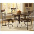 Hillsdale Granada 5 Pc Dining Set in Dark Chestnut/Brown