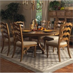 Hillsdale Hamptons 7 Piece Dining Set in Weathered Pine