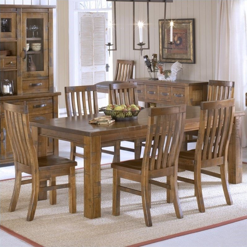 Outback 7 Piece Dining Set in Distressed Chestnut