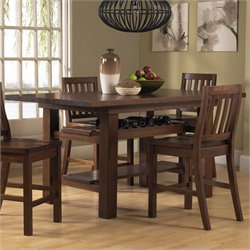 Hillsdale Outback Rectangular Counter Height Dining Table in Brown