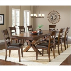 Hillsdale Park Avenue 9 Piece Dining Set in Dark Cherry
