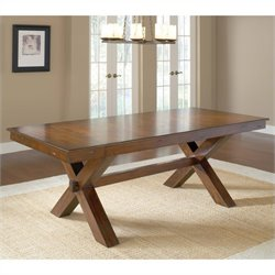 Hillsdale Park Avenue Trestle Dining Table in Dark Cherry