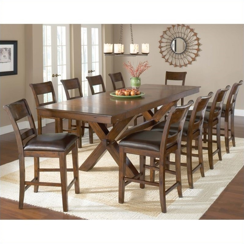 Hillsdale park avenue 11 pc counter height dining set in for 11 piece dining table set