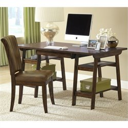 Hillsdale Park Glen Computer Desk and Chair in Cherry