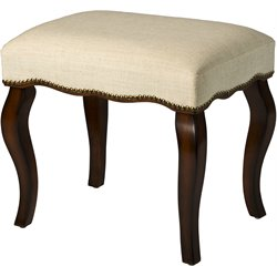 Hillsdale Hamilton Vanity Stool in Burnished Oak