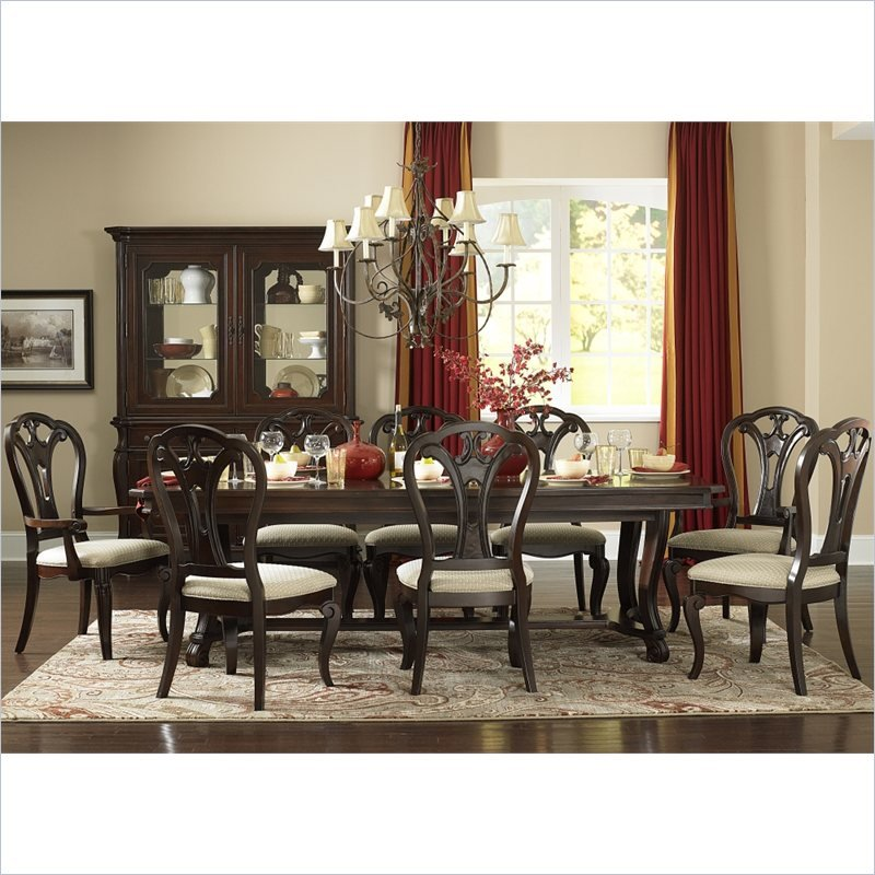 Grandover Large Table Dining Set in Dark Cherry