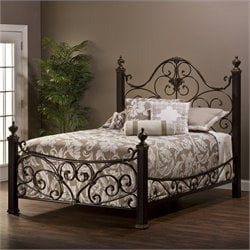 Hillsdale Mikelson Bed in Aged Antique Gold - King