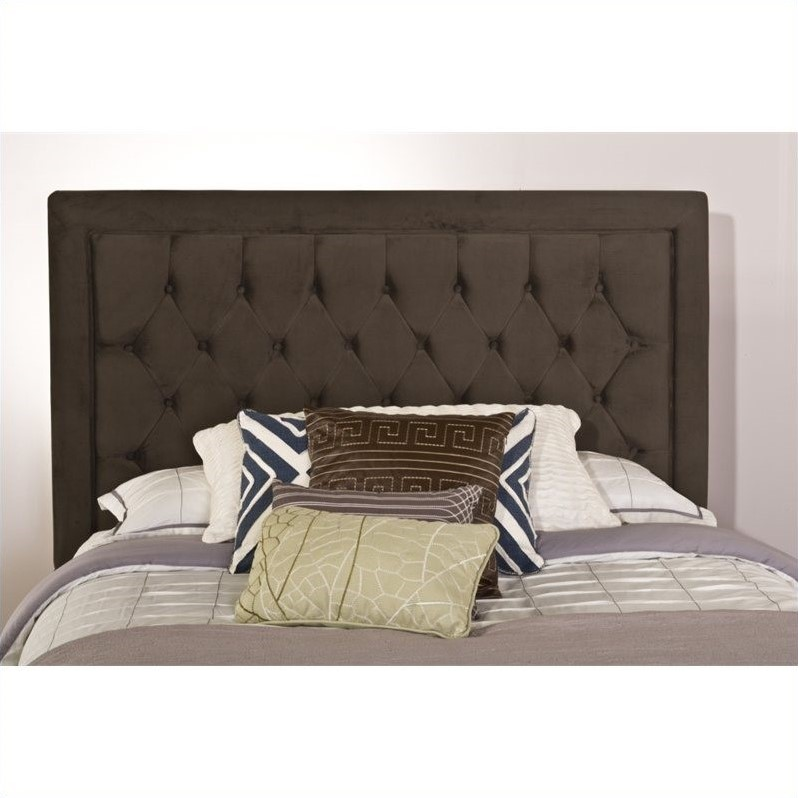Hillsdale Kaylie Tufted Panel Headboard in Pewter