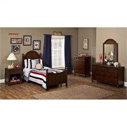 Hillsdale Westfield 5 Piece Bedroom Set in Espresso Finish