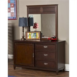 Hillsdale Westfield Dresser and Mirror Set in Espresso Finish
