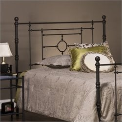 Hillsdale Cameron Headboard with Rails in Bronze Finish - Full/Queen