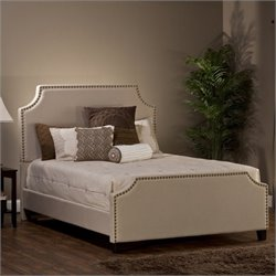 Hillsdale Dekland Upholstered Bed in Ivory Linen