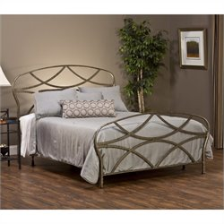 Hillsdale Landon Bed in Brushed Silver Finish