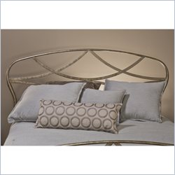 Hillsdale Landon Headboard in Brushed Silver Finish - Full/Queen
