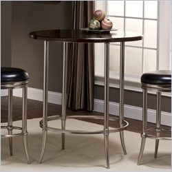 Hillsdale Maddox Bar Height Bistro Table in in Espresso and Nickel