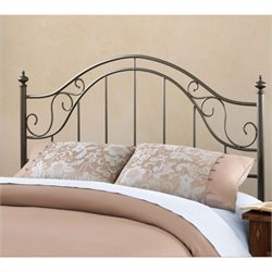 Hillsdale Clayton Headboard with Rails in Matte Brown - Full - Queen