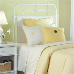 Hillsdale Kensington Headboard with Rails in Textured White - Twin
