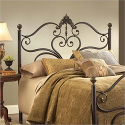 Hillsdale Newton Spindle Headboard in Antique Brown - Queen