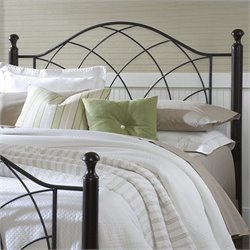 Hillsdale Vista Spindle Headboard with Rails in Silver and Black - Twin