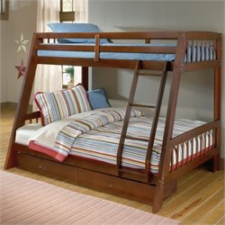 Hillsdale Rockdale Twin over Full Bunk Bed in Cherry