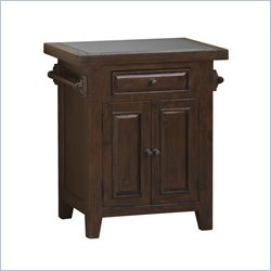 Hillsdale Tuscan Retreat Granite Top Kitchen Island in Rustic Mahogany