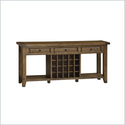 Hillsdale Tuscan Retreat Sideboard with Wine Storage in Antique Pine