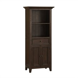 Hillsdale Tuscan Retreat Open Top Display Cabinet in Rustic Mahogany