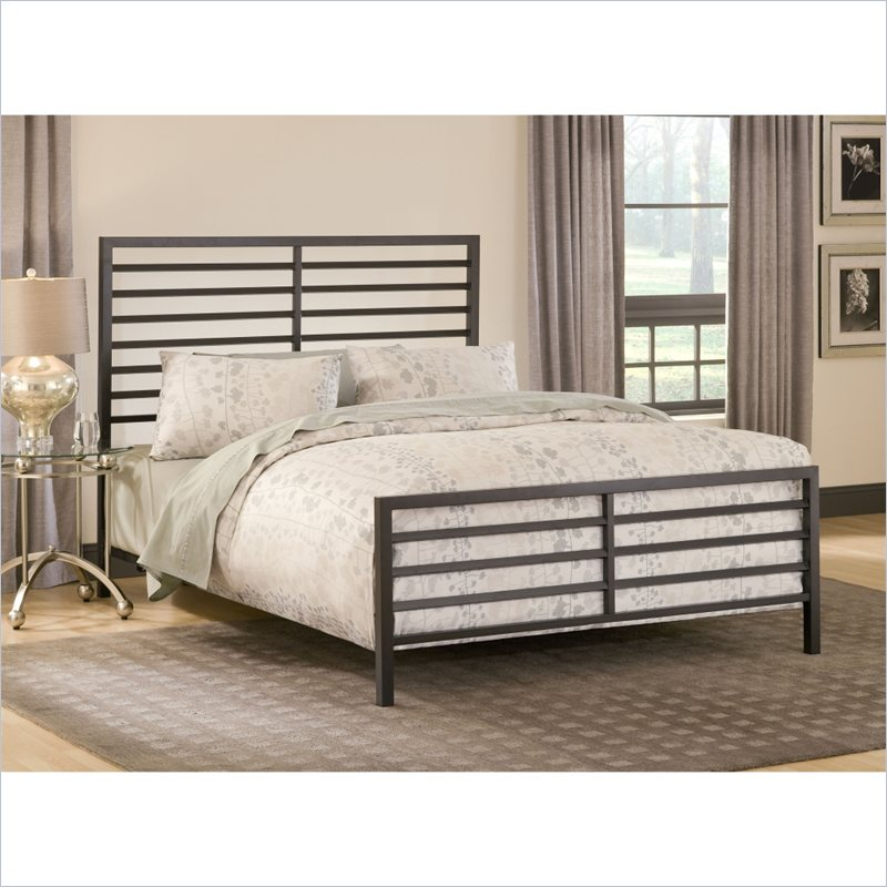 Latimore Bed in Charcoal Black