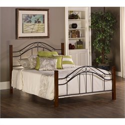 Hillsdale Matson Bed in Cherry and Black Finish