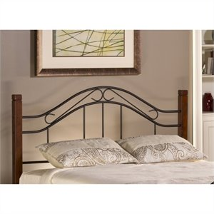 Hillsdale Matson Spindle Headboard with Rails in Cherry and Black