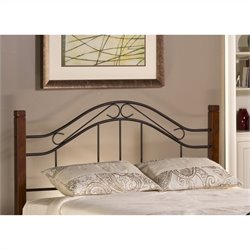 Hillsdale Matson Spindle Headboard with Rails in Cherry and Black - Twin
