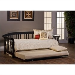 Hillsdale Dorchester Daybed with Trundle and Suspension Deck in Black