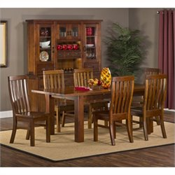 Hillsdale Outback 7 Piece Dining Set in Distressed Chestnut