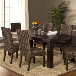 Hillsdale Simply Sydney Dining Set in Smoke Brown
