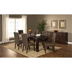 Hillsdale Simply Sydney 7 Piece Dining Set in Smoke Brown